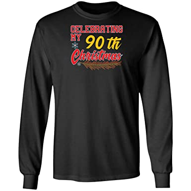 90th Birthday Idea For 90 Years Old Men Wome Long Sleeve T Shirt