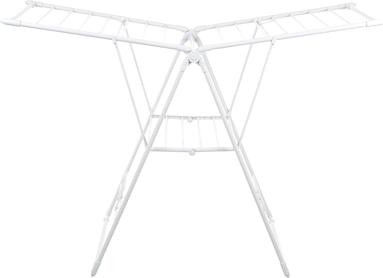 AmazonBasics Gullwing Clothes Drying Rack - White (Renewed)