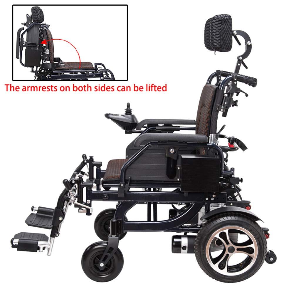 Amazon.com: Silla de ruedas eléctrica resistente con ...