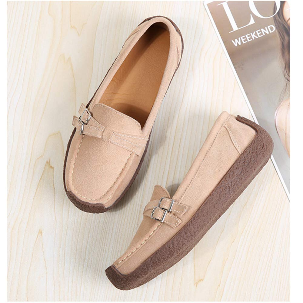 HopCon Womens Suede Slip On Loafers Flats Moccasins Comfortable Soft Casual Shoes for Driving /& Walking