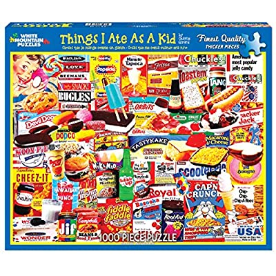 White Mountain Puzzles Things I Ate As A Kid Collage Puzzle - 1000 Piece Jigsaw Puzzle: Toys & Games