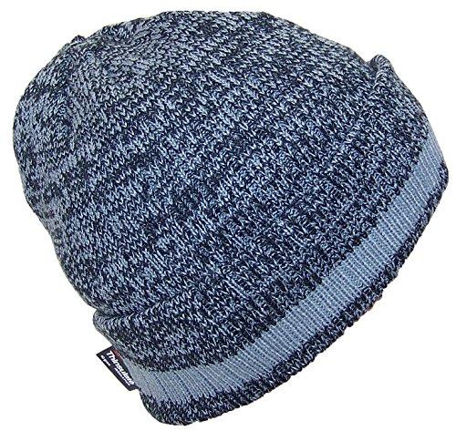 Best Winter Hats 3M 40 Gram Thinsulate Insulated Cuffed Knit Beanie (One Size) - Black/Light Gray W/Gray Stripe ()
