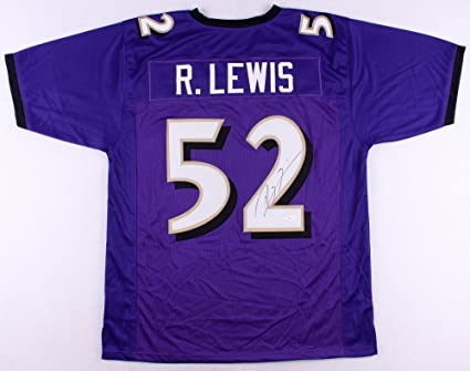 ray lewis signed authentic jersey