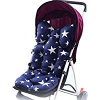 Laamei Baby Stroller Cushion Pad Cotton Breathable Car High Chair Seat Liner Mat