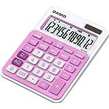 Casio MS-20NC-PK Tischrechner in Trendfarbe, 12-stelliges LC-Display, pink