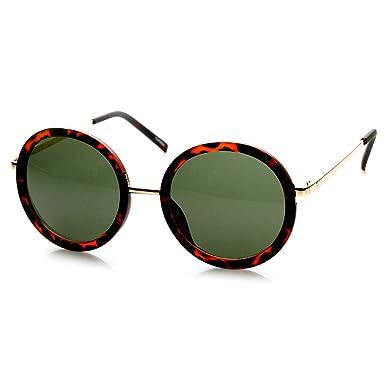 Amazon.com: zeroUV – Womens – Gafas de sol Oversized Círculo ...