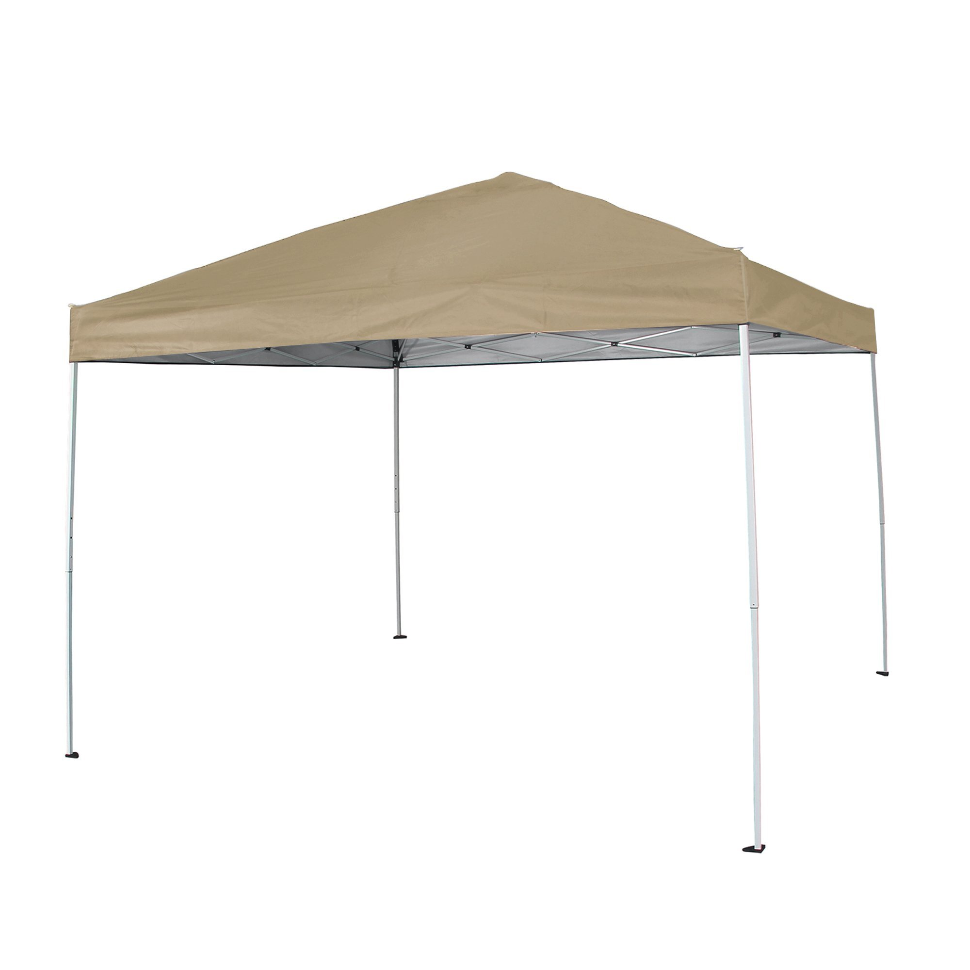 FurniTure Outdoor Canopy 10' x 10' Patio Canopy Garden Canopy Pop Up Canopy Instant Canopy Tent Easy Set Up with Carry Bag, Tan