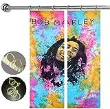 "Cheap Bob Marley Tie Dye Mandala Curtain Window Curtain 2Pcs Set Panel With 10 PCS Plastic Hooks, Door Curtain Drape Handmade Curtain Panel Window Treatments,100% Pure Cotton Door Hangings By ""Gemsandcraft"""