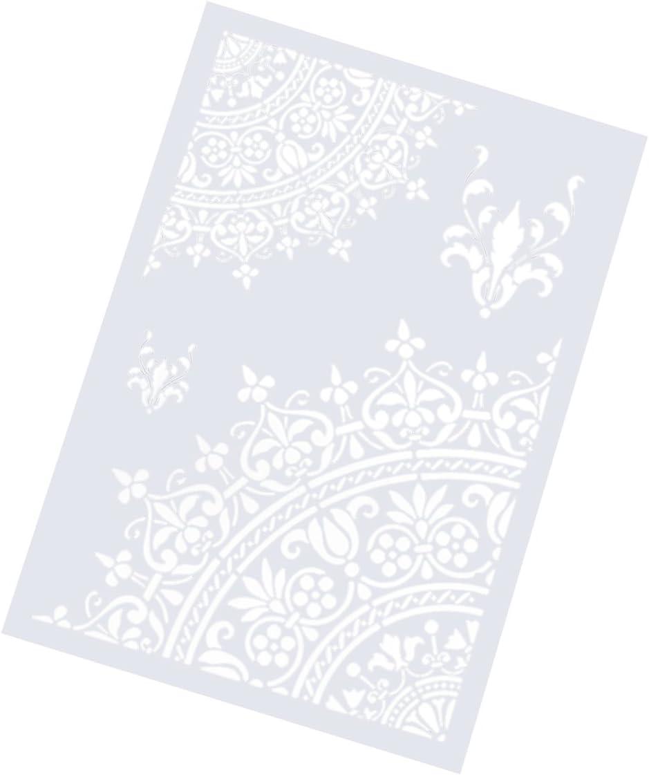 motivo floreale goffratura per artigianato scrapbooking Stencil per disegnare