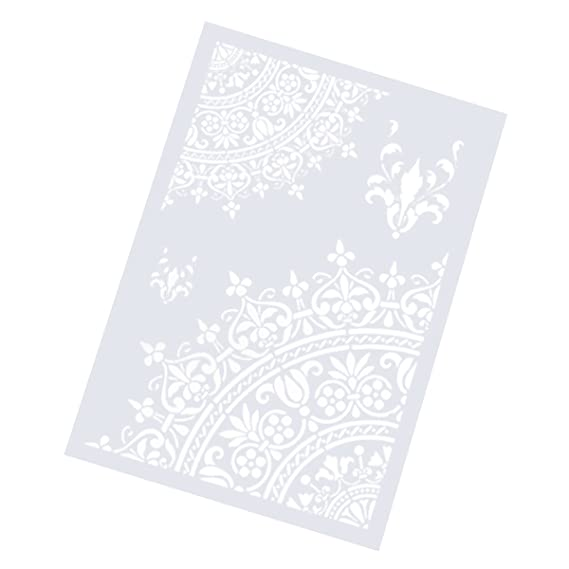 ULTNICE Plantillas de capas de arte DIY plantillas de pintura plástica hueca Diseño de flores de dibujo DIY (blanco): Amazon.es: Hogar