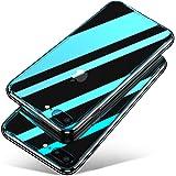 iPhone 8 Plus ケース/iPhone 7 Plus ケース, Aunote TPUと強化ガラスがジャストフィット 強化ガラスケース レンズ保護 耐衝撃 極薄 耐久 ハードケース Qi充電対応 アイフォン8プラス ケース / アイフォン7プラス ケース(iPhone8 プラス / iPhone7 プラス 用 クリア)