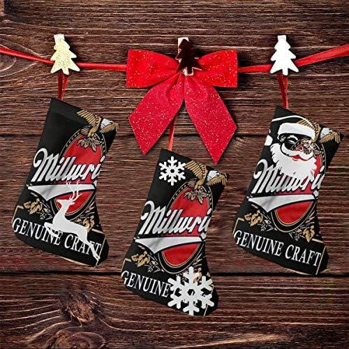 クリスマスの日の靴下 (ソックス3個)クリスマスデコレーションソックス GENUINE CRAFT MILLWRIGHT クリスマス、ハロウィン 家庭用、ショッピングモール用、お祝いの雰囲気を加える 人気を高める、販売、プロモーション、年次式