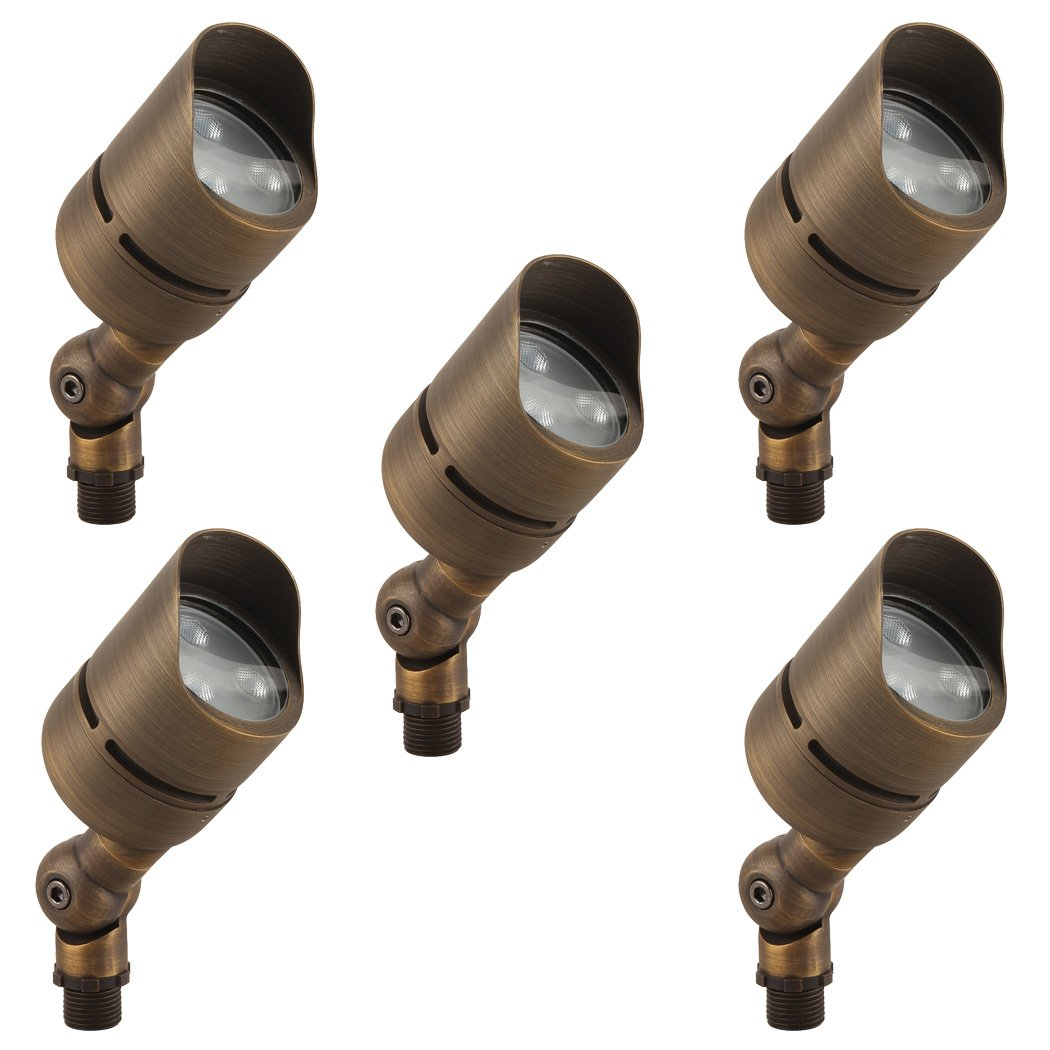 LFU Solid Brass Constructed Built-in LED Spot Up Flood Light. Low Voltage. (5, Cygnus)