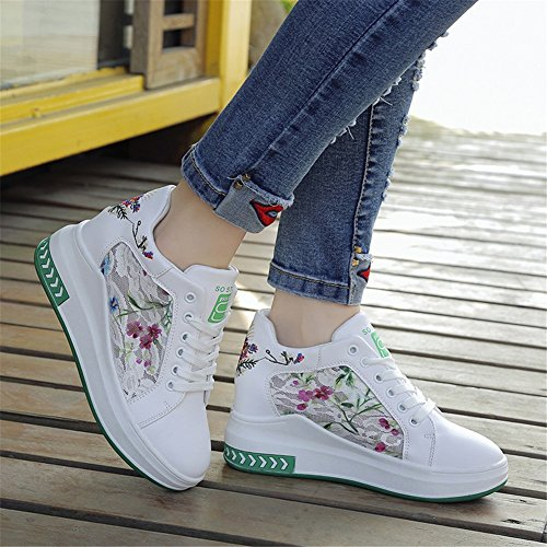 Tulle Women's Casual Sneakers ONS Spring Comfort A Exercise Outdoor Slip Wedge for Fall Heel Loafers Shoes amp; 55rqw7nA