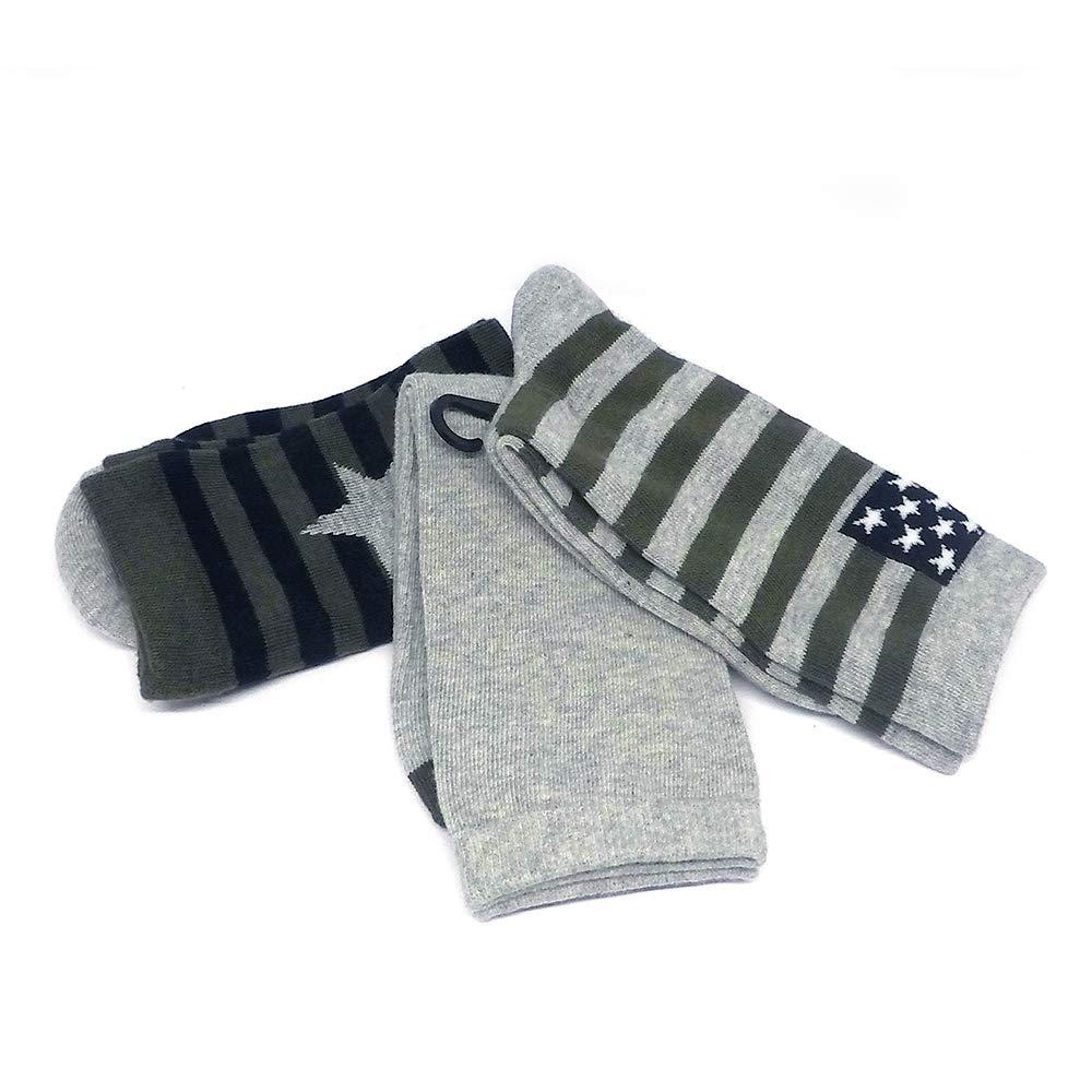 Grigio e nero Disponibile in 3 misure Comodo e morbido MERCERS Set di 6 paia di mezze calze per bambini Calzini in cotone per bambini