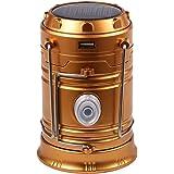 Ueasy 6LEDキャンプライト 充電式ソーラーパワーランタン 12時間連続点灯 ポータブル折りたたみ式  防水仕様 アウトドア・防災等に最適なランタン