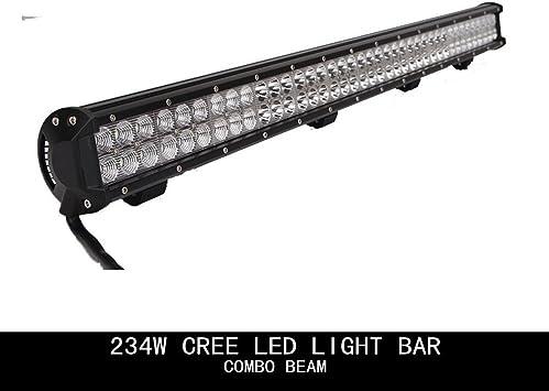 "Wiring Kit 2X 4inch 18W CREE Spot Work Lights 36/"" 234W CREE LED Work Light Bar"