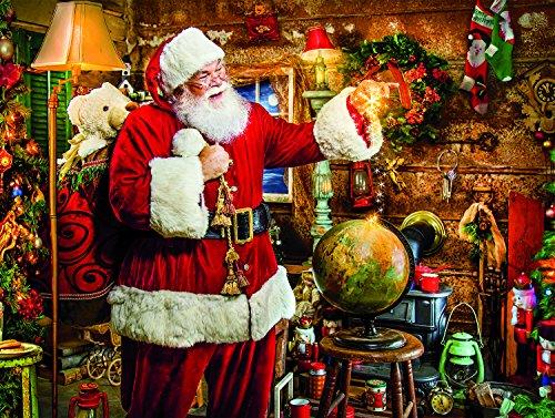 (Ceaco Tis The Season Santa Puts Presents Under Tree  Jigsaw Puzzle (550 Pieces))