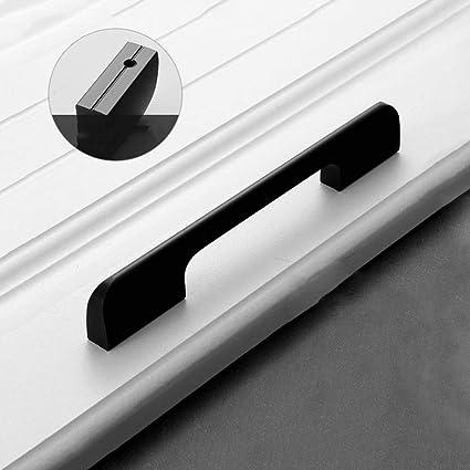 Cuisine Armoire Poign/ées Porte Placard Tiroir Chambre Meubles De Placard Et Modernes Poign/ées Poign/ée 0mm 64mm 96mm 128mm 160mm,Noir,96mm