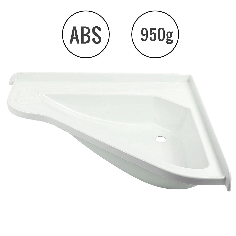 Roulotte Camper lavabo Gross, (L/B/T): 580 X 540 X 90 mm, colore: bianco, in plastica ABS (L/B/T): 580X 540X 90mm Groß