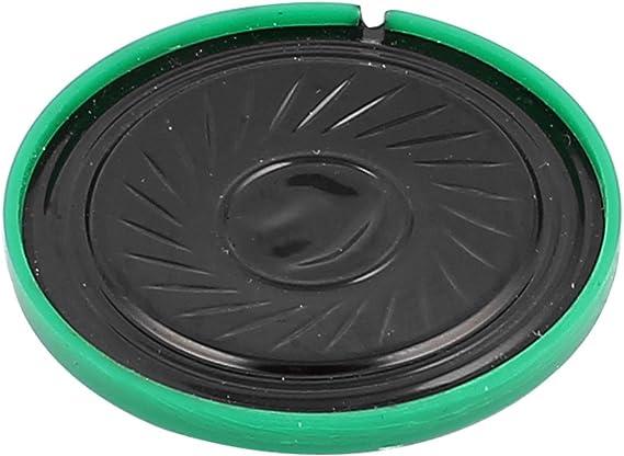 sourcing map 36mm x 17mm 8 Ohm 0,5W Magnete Interno Speaker Altoparlante Tromba Verde Guscio