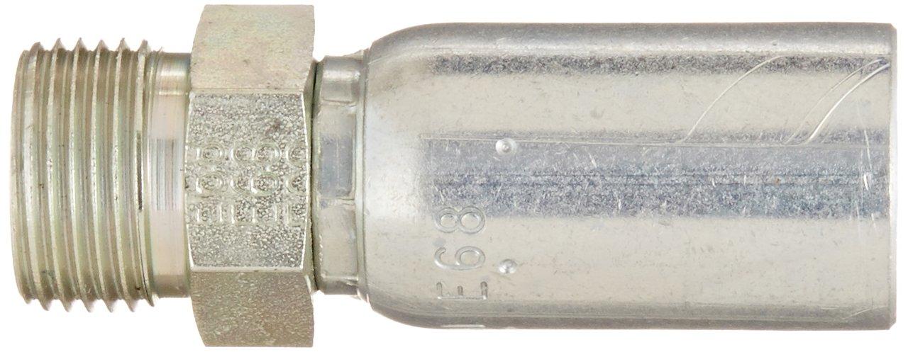 3//8 Tube Size 3//8 Hose ID Low Carbon Steel EATON Weatherhead Coll-O-Crimp 06U-E66 Male Rigid Fitting FOR-SEAL