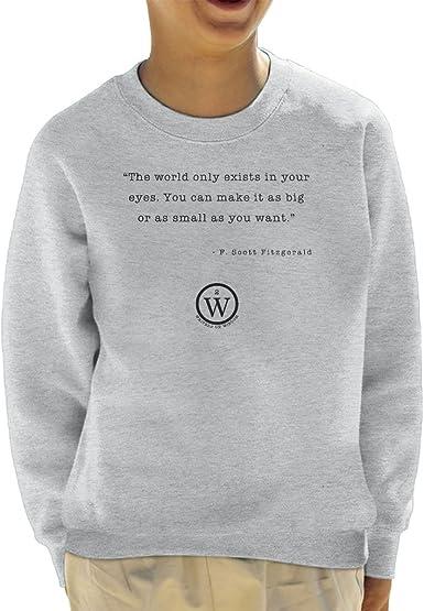 Writers On Wisdom F Scott Fitzgerald Quote The World Mens Hooded Sweatshirt