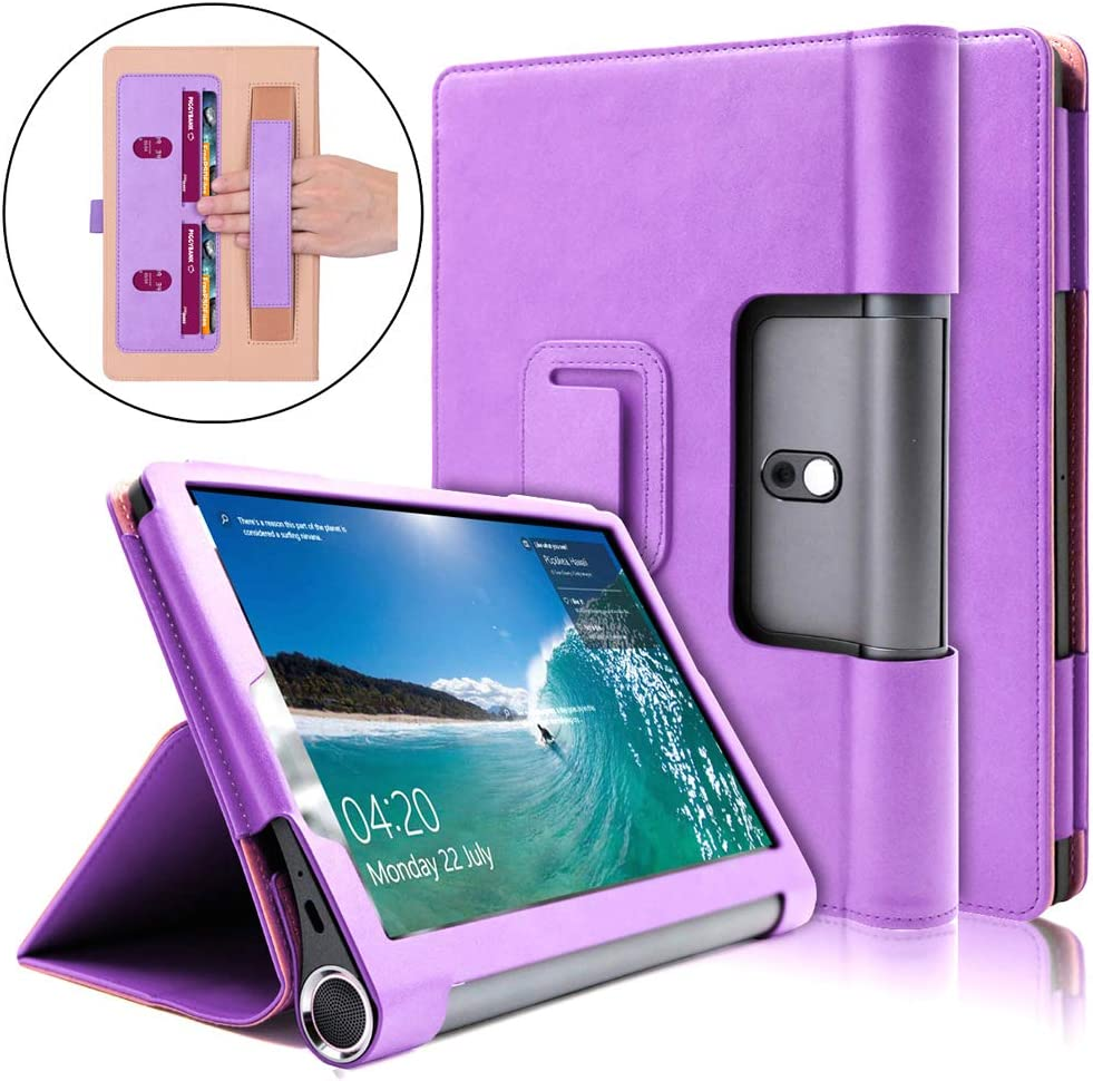 Gylint Case for Lenovo Yoga Smart Tab 10.1 (YT-X705F), Multifunctional Cover Standing Multiple Viewing Angles for Lenovo Yoga Smart Tab 10.1 (YT-X705F) Purple