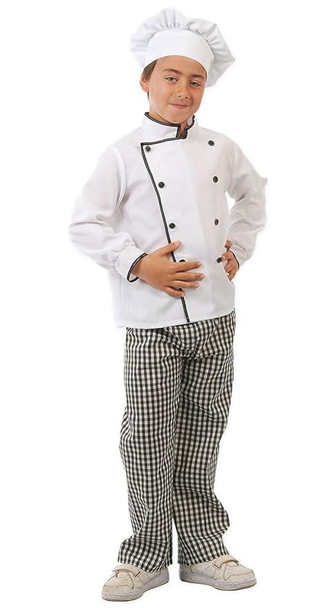 Guirca - Disfraz de cocinero con traje y gorro, para niños ...