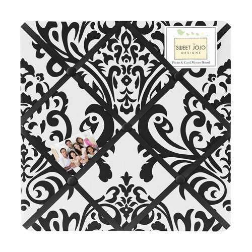 Black and White Isabella Fabric Memory/Memo Photo Bulletin B