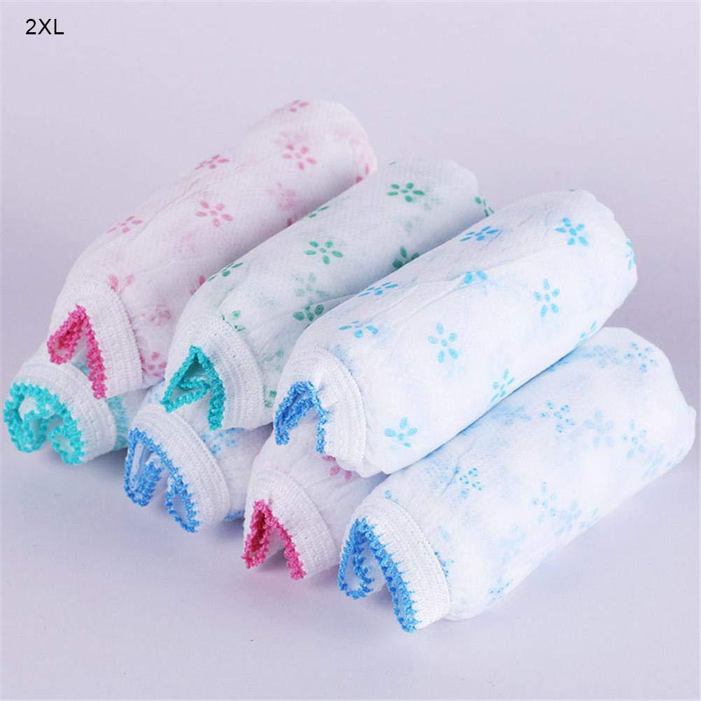 Gecorid Damen Einmal Slip aus Baumwolle, 7er Pack Damen Einweg Unterwäsche für Krankenhaus Mutterschaft Schwangerschaft Post Partum Travel Massage Wear