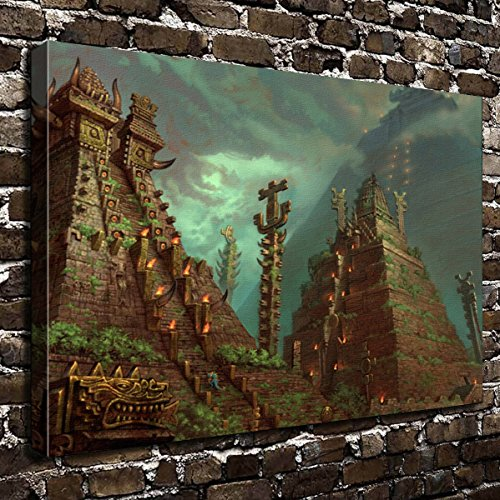 Colorsforu Wall Art Painting Aztec Prints On Canvas The Picture Landscape Pictures Oil For