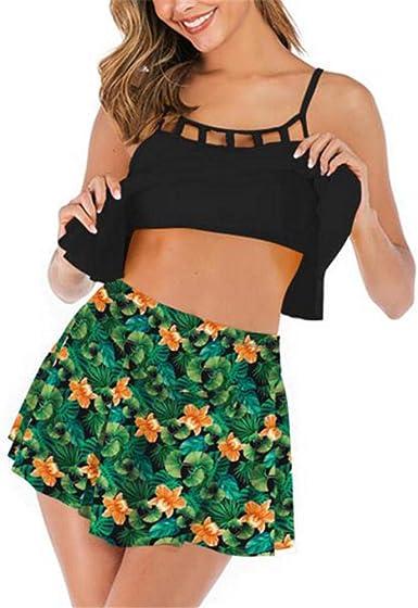 Wymw Summer Sexy Gradient Plus Size Falda Traje De Baño Mujer Dos ...