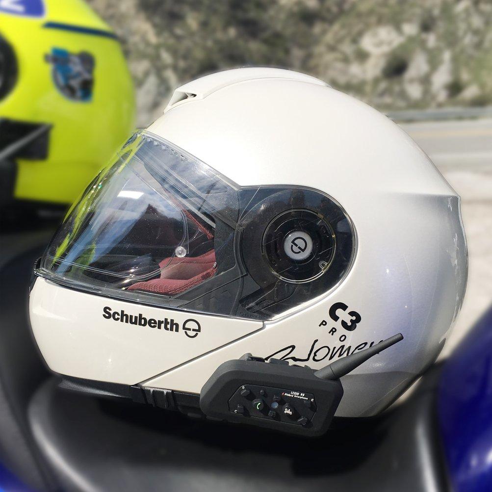 LEXIN LX-R6 - Casco de Moto con Bluetooth (1000 m, intercomunicador de 6 Ciclistas): Amazon.es: Electrónica