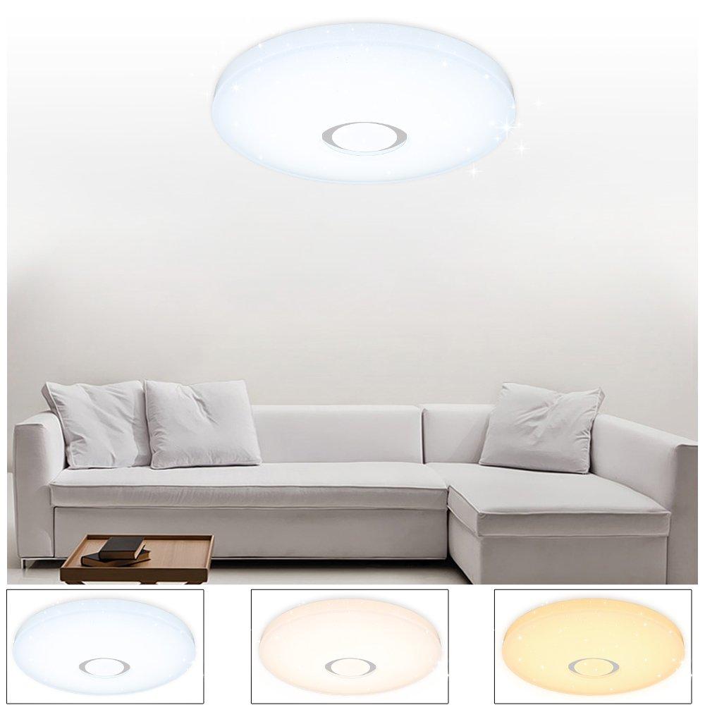 VGO 50W plafón Lámpara de techo LED Cielo estrellado Iluminación moderna Iluminación de techo Baño Iluminación continua económica Cambio de color ...
