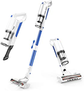 Cordless Vacuum Cleaner,SANCORP by whall 21Kpa Suction 250W Brushless Motor Cordless Stick Vacuum Cleaner, up to 53mins Runtime, 4 in 1 Lightweight Handheld Vacuum for Home Hard Floor Carpet Pet Hair