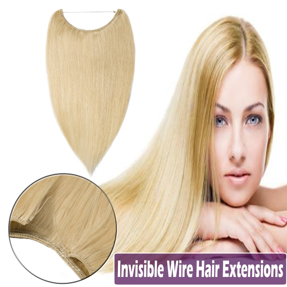 Amazon 100 Flip On Hidden Wire Human Hair Extensions Remy 16