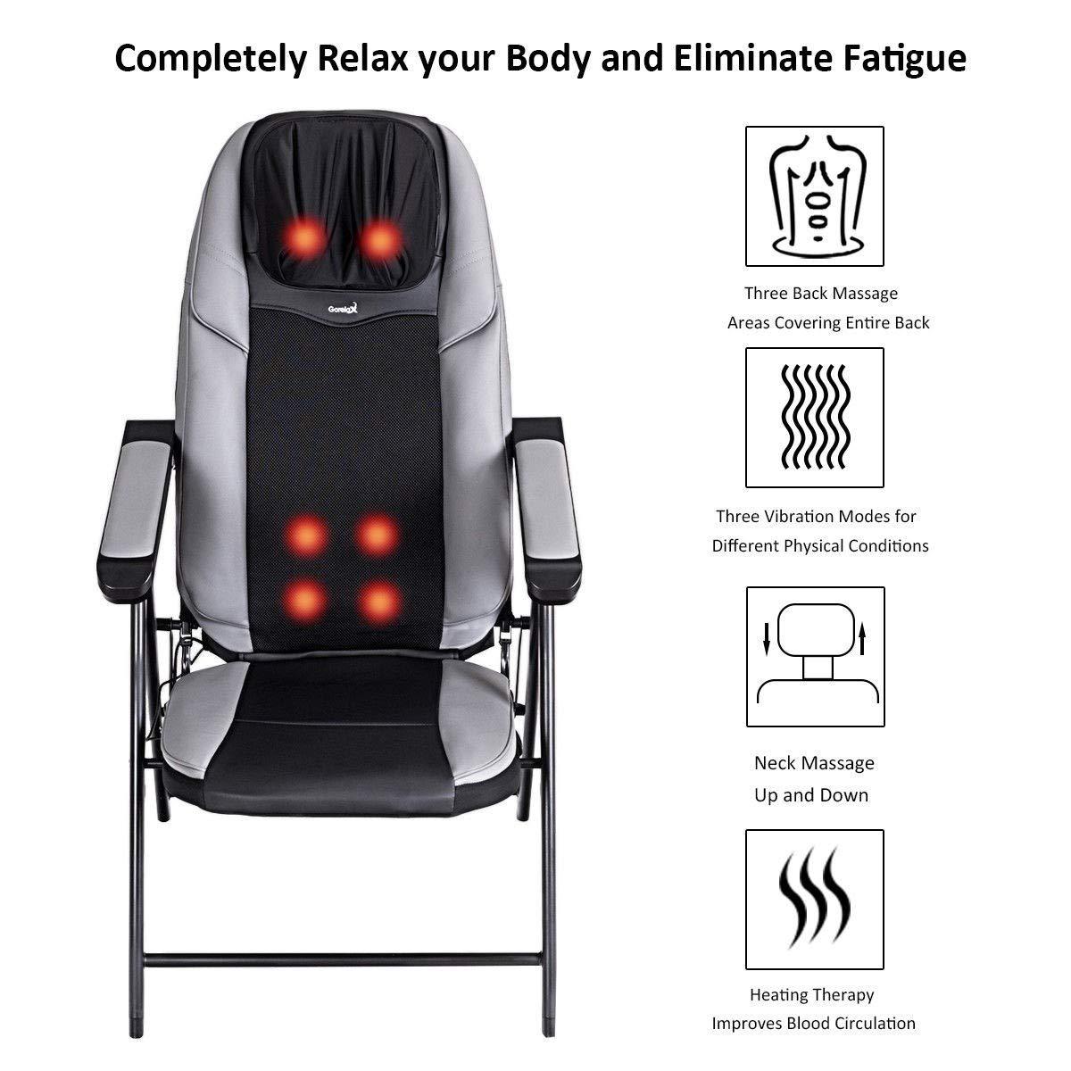 Amazon.com: Silla de masaje Shiatsu plegable y ajustable con ...