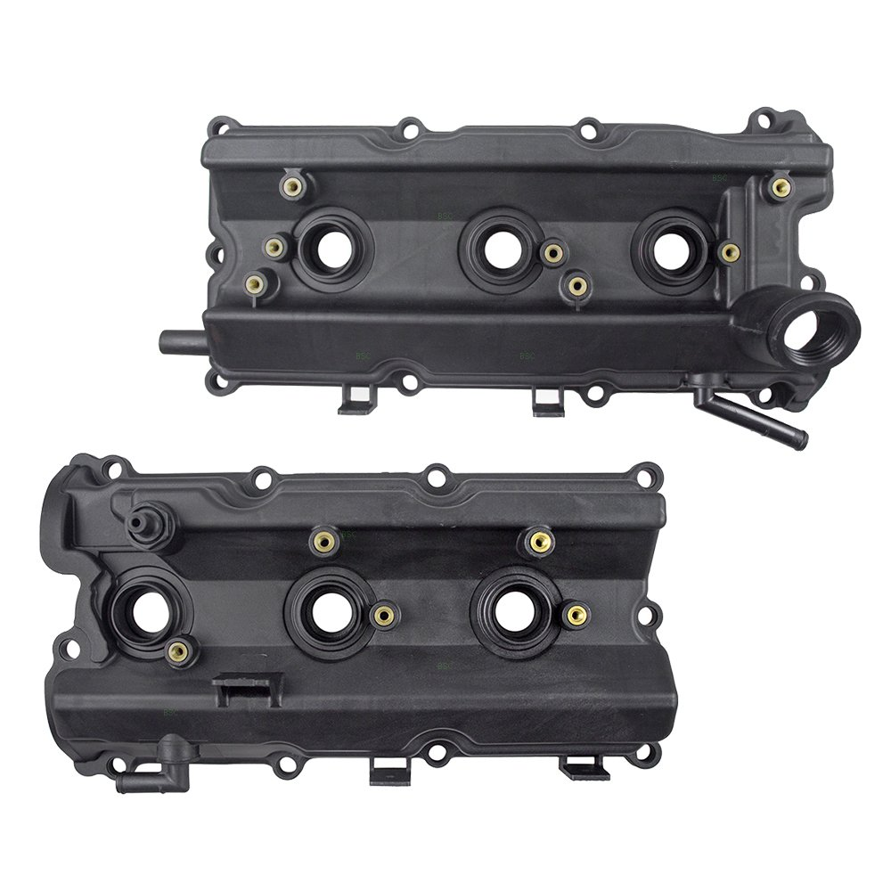 Pair Set Engine Valve Covers w/Gaskets Replacement for Infiniti FX35 G35 M35 & M35X Nissan 350Z 13270-8J112 13264-AM600