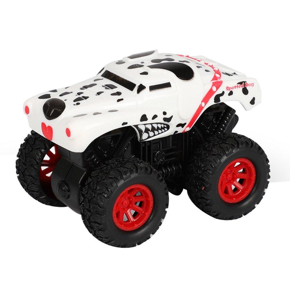 Inkach プルバック オフロードカー 動物の形をしたフリクションパワー バギー 車 玩具 車内 モデル One Size マルチカラー IN-1 B07HF86WFN E