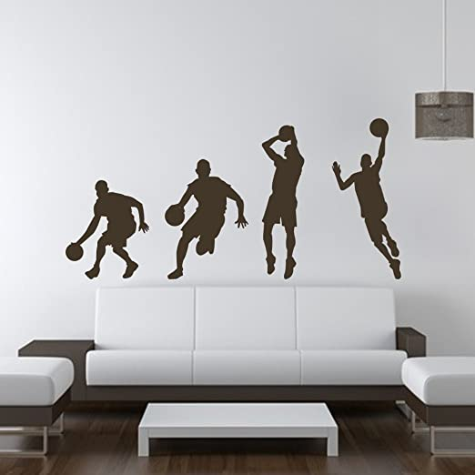 Vinilo adhesivo para pared baloncesto baloncesto acción decoración ...