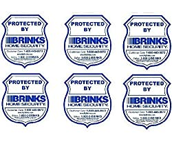 6 Home Security Window Warning Stickers 3 5 X 3 75