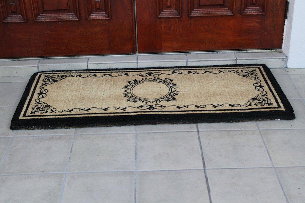 A1 Home Collections Elegant Coco Fibre Extra Thick Double Doormat, 24'' L x 57'' W