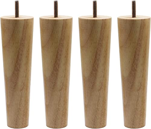 WEICHUAN Round Solid Wood Replacement Sofa Couch Chair Ottoman Loveseat Coffee Table Cabinet Furniture Wood Legs 10 Set of 4