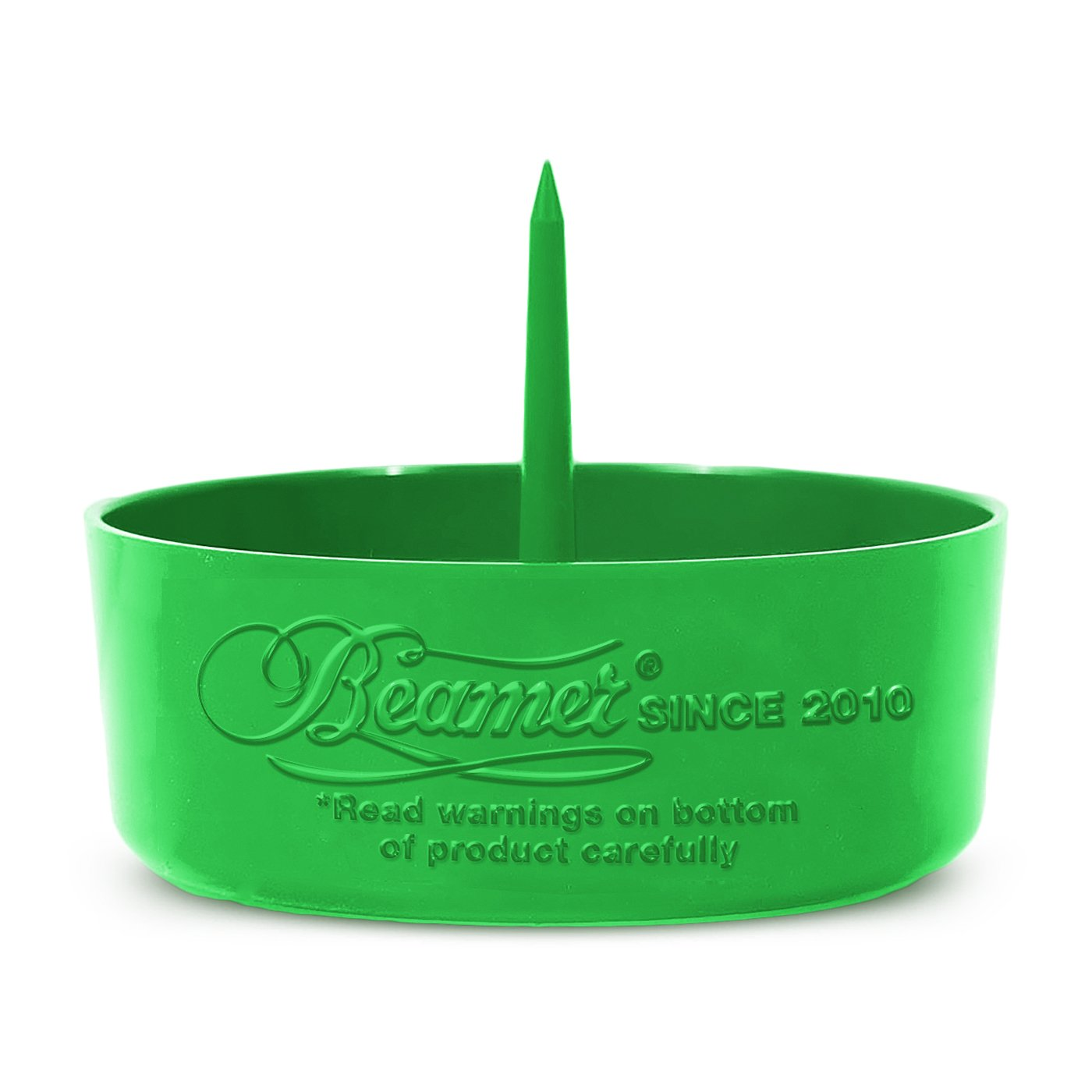 Beamer DePiper Green Ashtray with Built in Cleaning Poker Spike Tool to Clean out Pipes and Bowls Quickly and Mess Free and Beamer Smoke Sticker