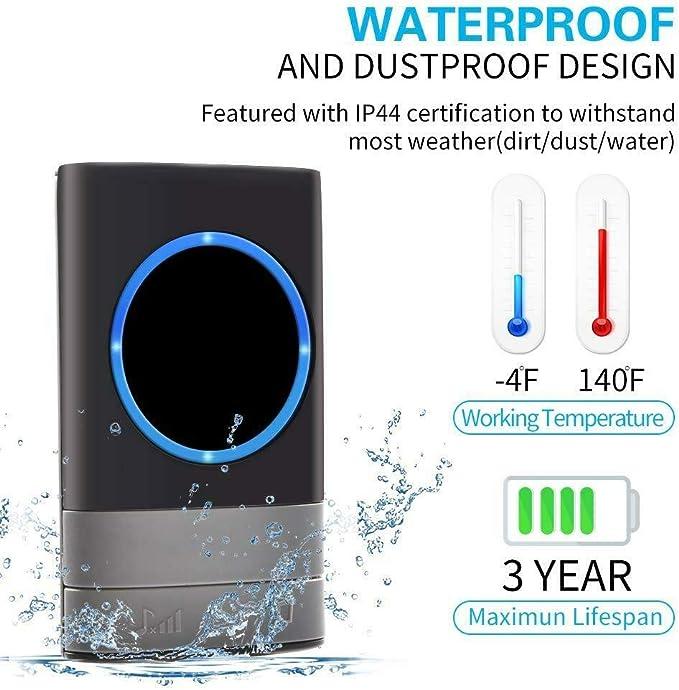 300M Wireless Door Bell Doorbell Waterproof Wall UK Plug In Loud Chime LED Home