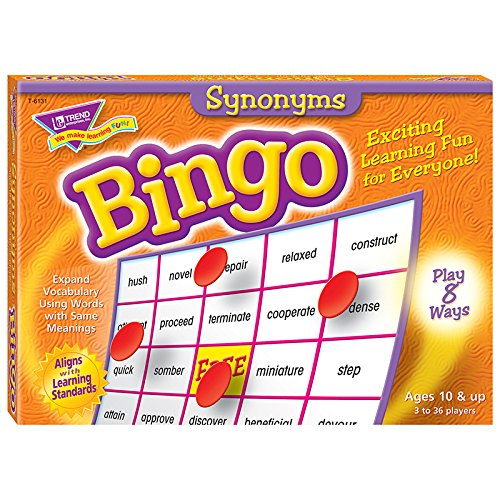 Synonyms Bingo Game, 3-36 Players, 36 Cards/Mats ()
