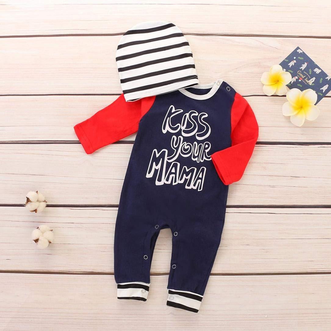 Amazon.com: SRYSHKR Toddler Infant Baby Boys Girls Letter Splice ...