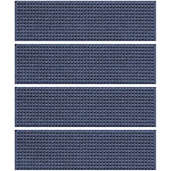 Amazon Com Waterguard Squares Stair Treads Navy Set Of