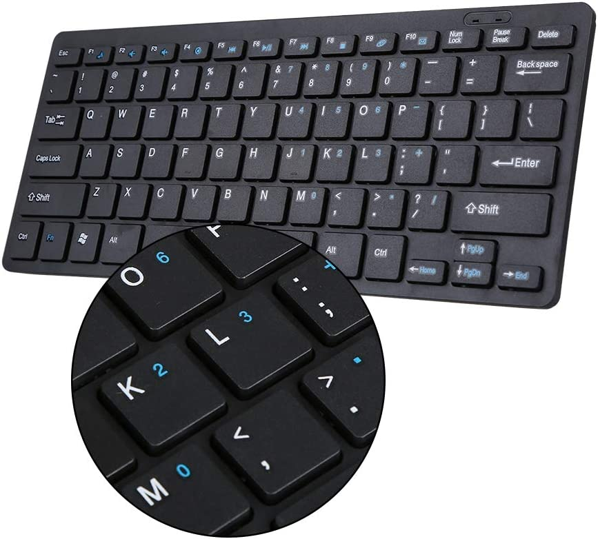 Yoidesu 901A 2.4G Wireless Keyboard and Mouse Kit Wireless Combo 78 Key Ultra-Slim Keypad Right-Handed Mouse